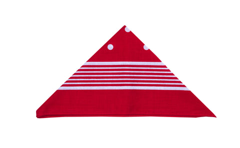 Regent - Cotton Hanky - Bandana - Red with White