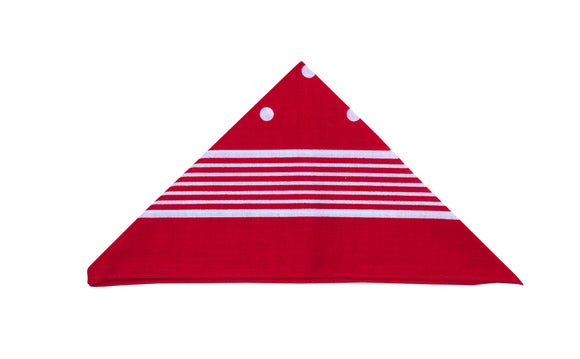 Regent - Cotton Hanky - Bandana - Red with White - Regent Tailoring