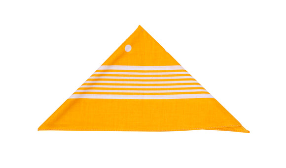 Regent Cotton Hanky - Bandana - Yellow with White - Regent Tailoring