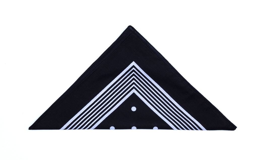 Regent - Cotton Hanky - Bandana - Black with White Spot - Regent Tailoring