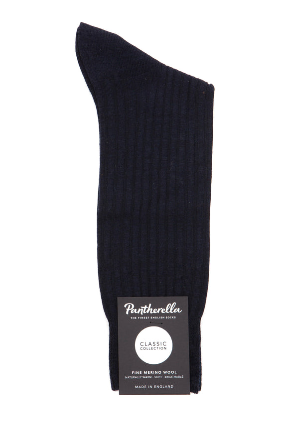 Pantherella Socks - Classic Collection - Navy Merino Wool