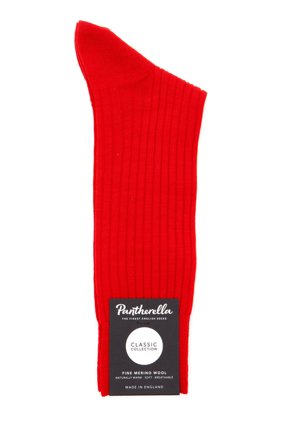 Pantherella Socks - Classic Collection - Merino Wool - Red