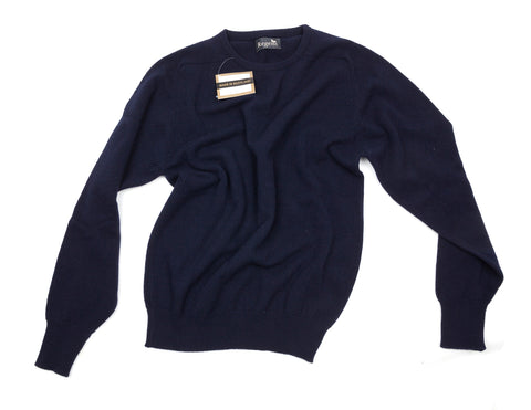 Regent - Geelong Lambswool - Navy Crew Neck