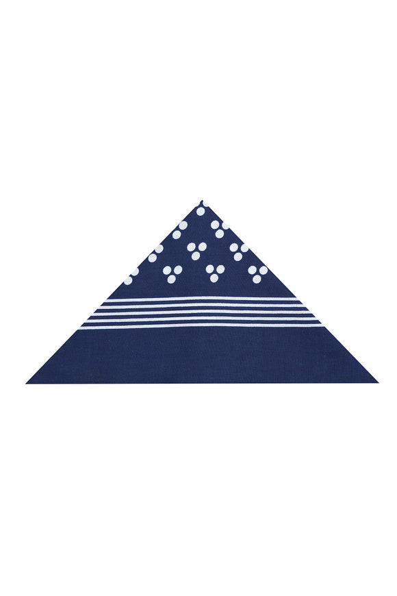 Regent Cotton Hanky - Bandana - Navy with White Spot