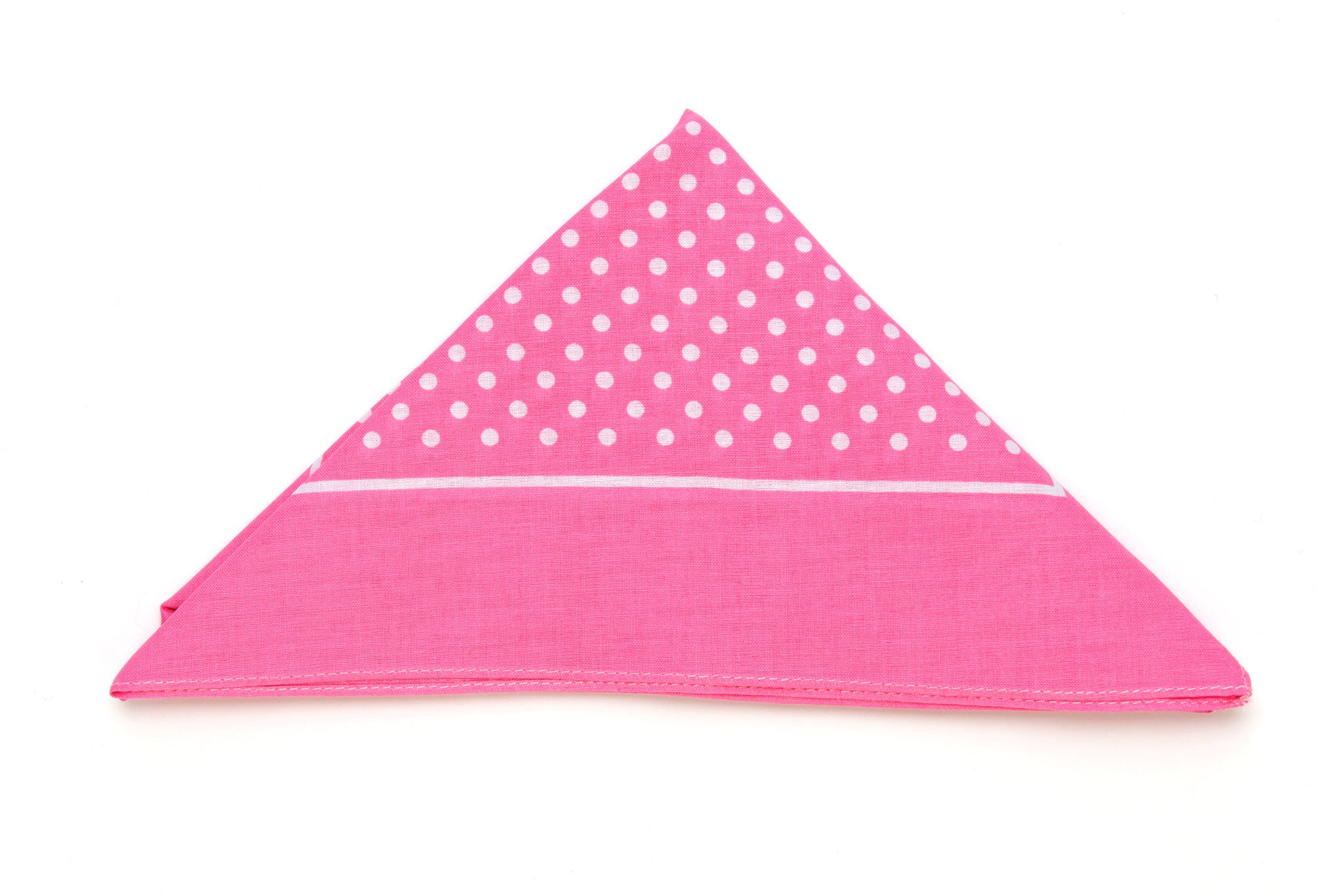 Regent - Cotton Hanky - Bandana - Bright Pink with White Spot