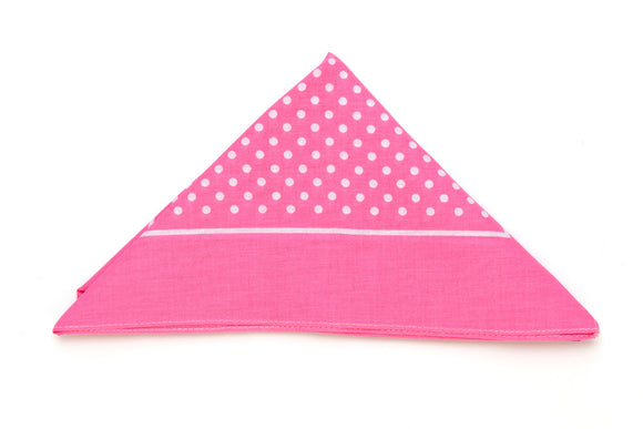 Regent Cotton Hanky - Bandana - Bright Pink with White Spot