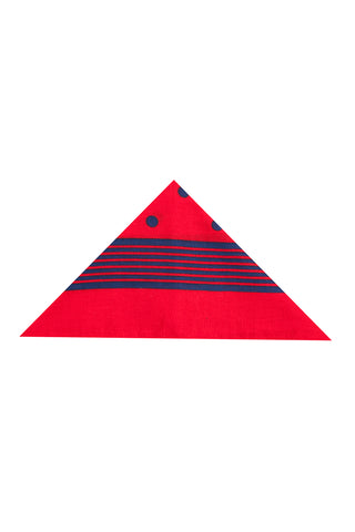 Regent - Cotton Hanky - Bandana - Red with Blue Spot