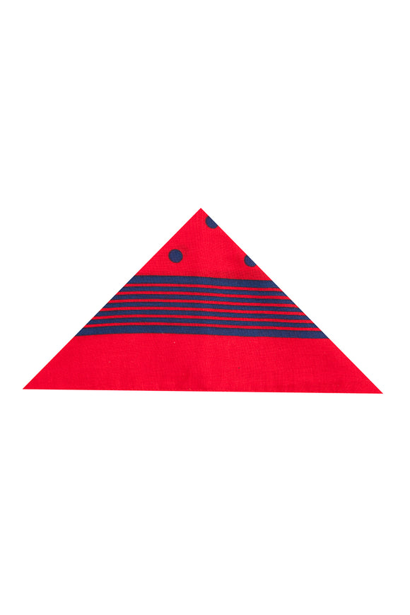 Regent Cotton Hanky - Bandana - Red with Blue Spot