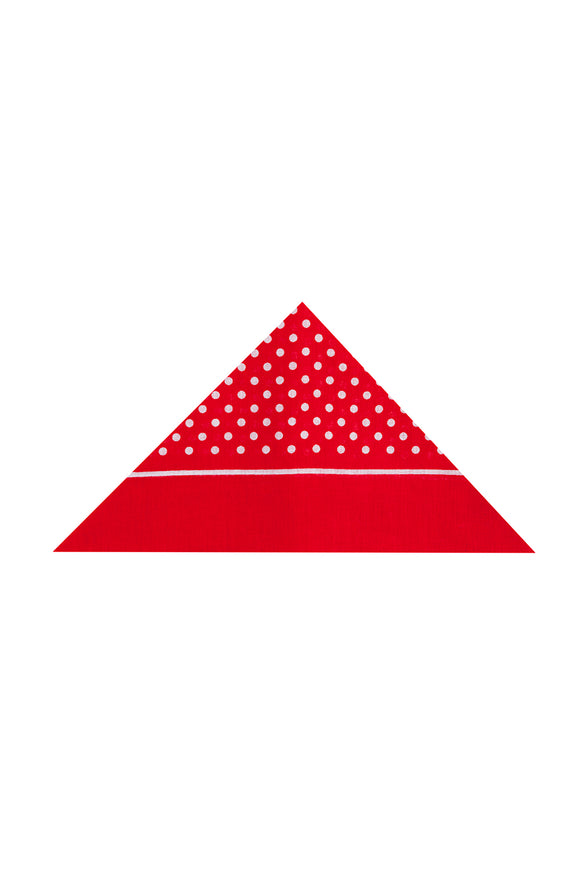 Regent Cotton Hanky - Bandana - Red with White Spot