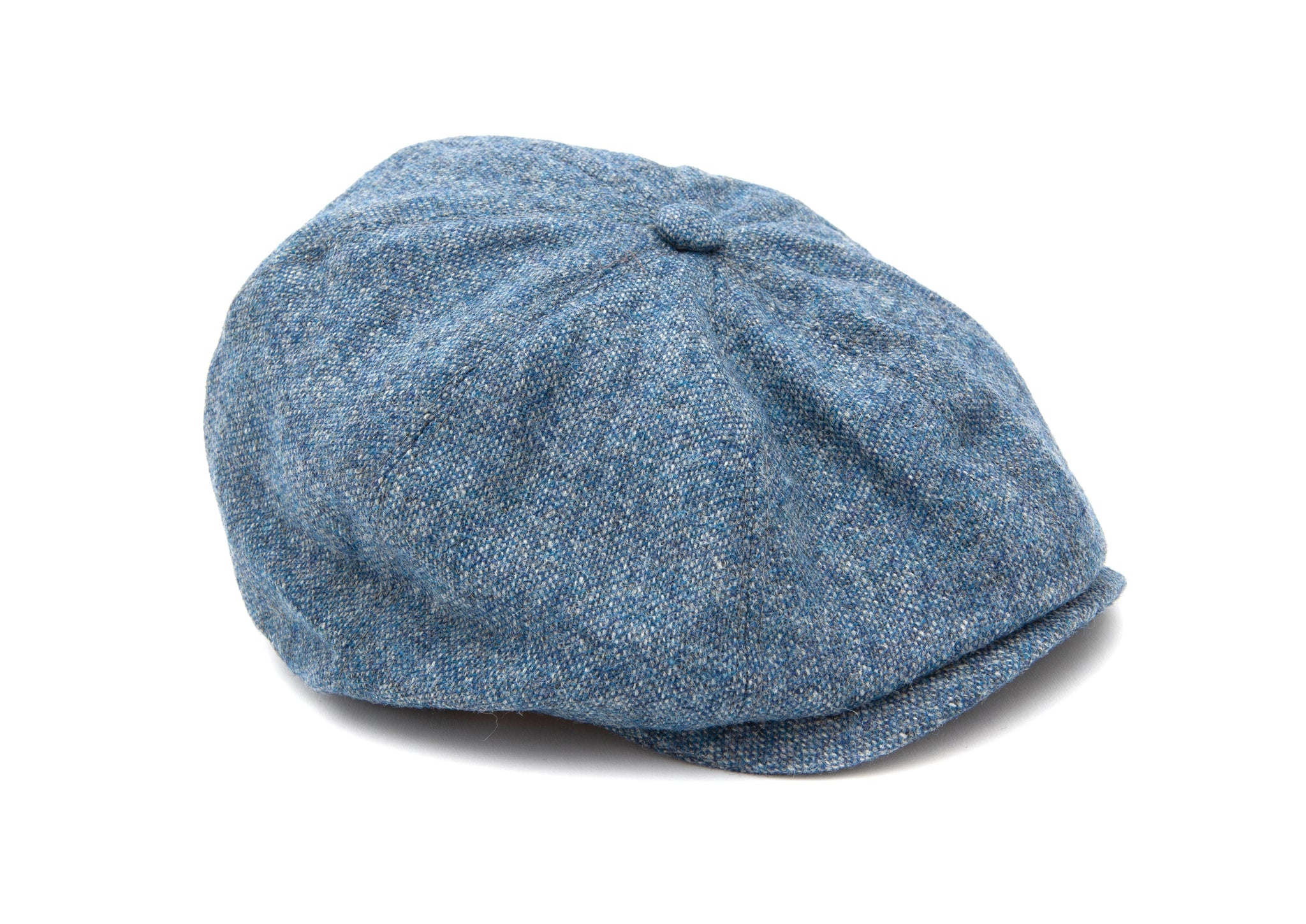Regent - 8-Piece Baker Boy Cap - Blue - Tweed
