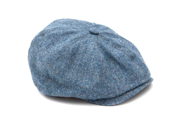 Regent - 8-Piece - Baker Boy Cap - Tweed - Light Blue - Regent Tailoring