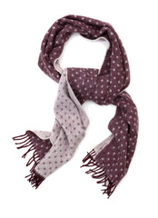Regent - Scarf - Merino Wool - Pale Purple with Spots