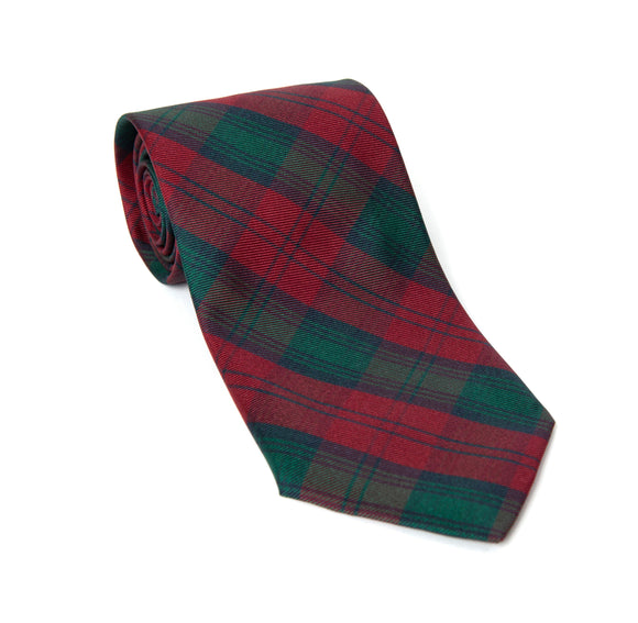 Regent Woven Silk Tie - Red and Green Tartan