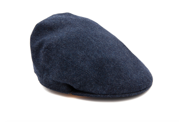 Regent Tweed Flat Cap - Blue