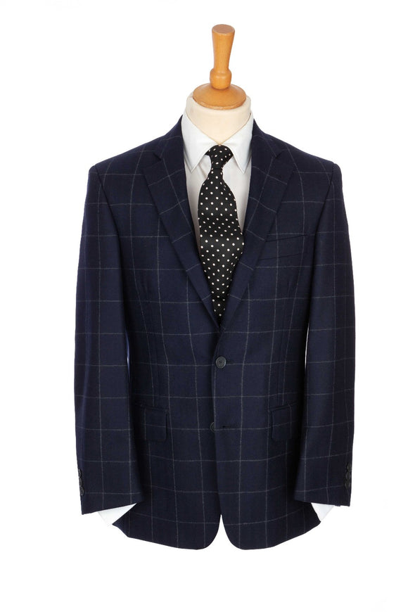Regent Jacket - 'The Island' - Navy w/ Grey Check
