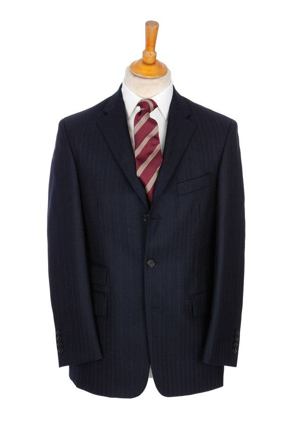 Regent Suit - 'The Shining' - Navy Herringbone