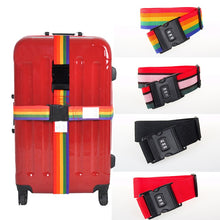 Load image into Gallery viewer, Nylon Luggage Straps with 3-Digit Combination Buckle Lock