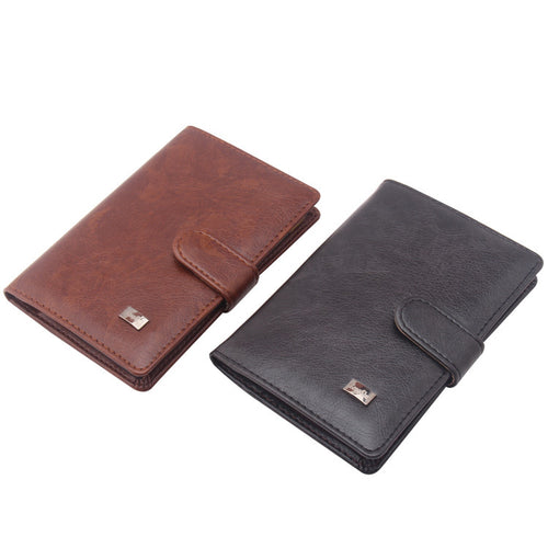 Leather Passport Wallet and Credit Card Organizer