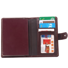 Load image into Gallery viewer, Leather Passport Wallet and Credit Card Organizer - Traveller's Atlas
