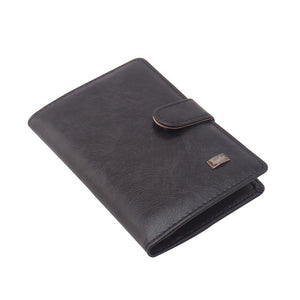 Leather Passport Wallet and Credit Card Organizer - Traveller's Atlas