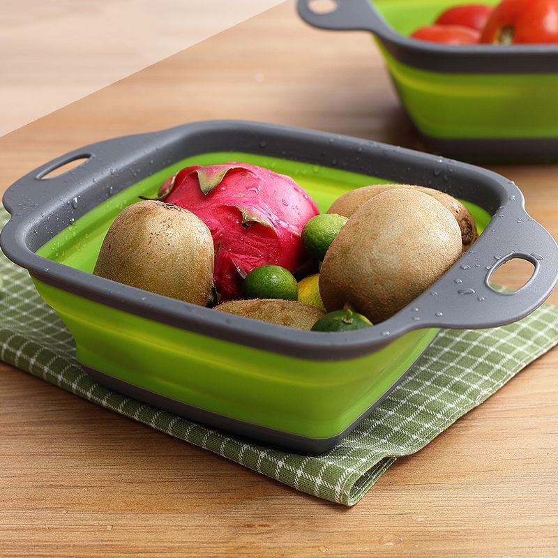 Foldable Silicone Colander for Fruits and Pasta