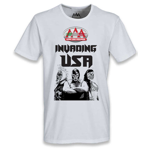 Playera Adulto AAA Invading USA Luchadores