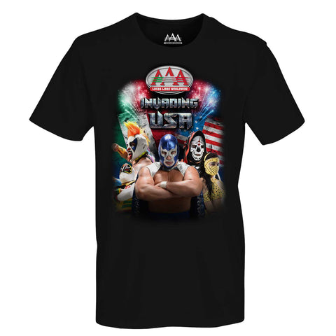 Playera Adulto Poster AAA Invading USA