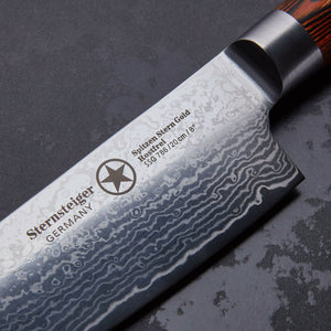 Sternstieger 2pcs damascus knife set japenese damascus steel VG-10 - SPITZEN-STERN GOLD SERIES