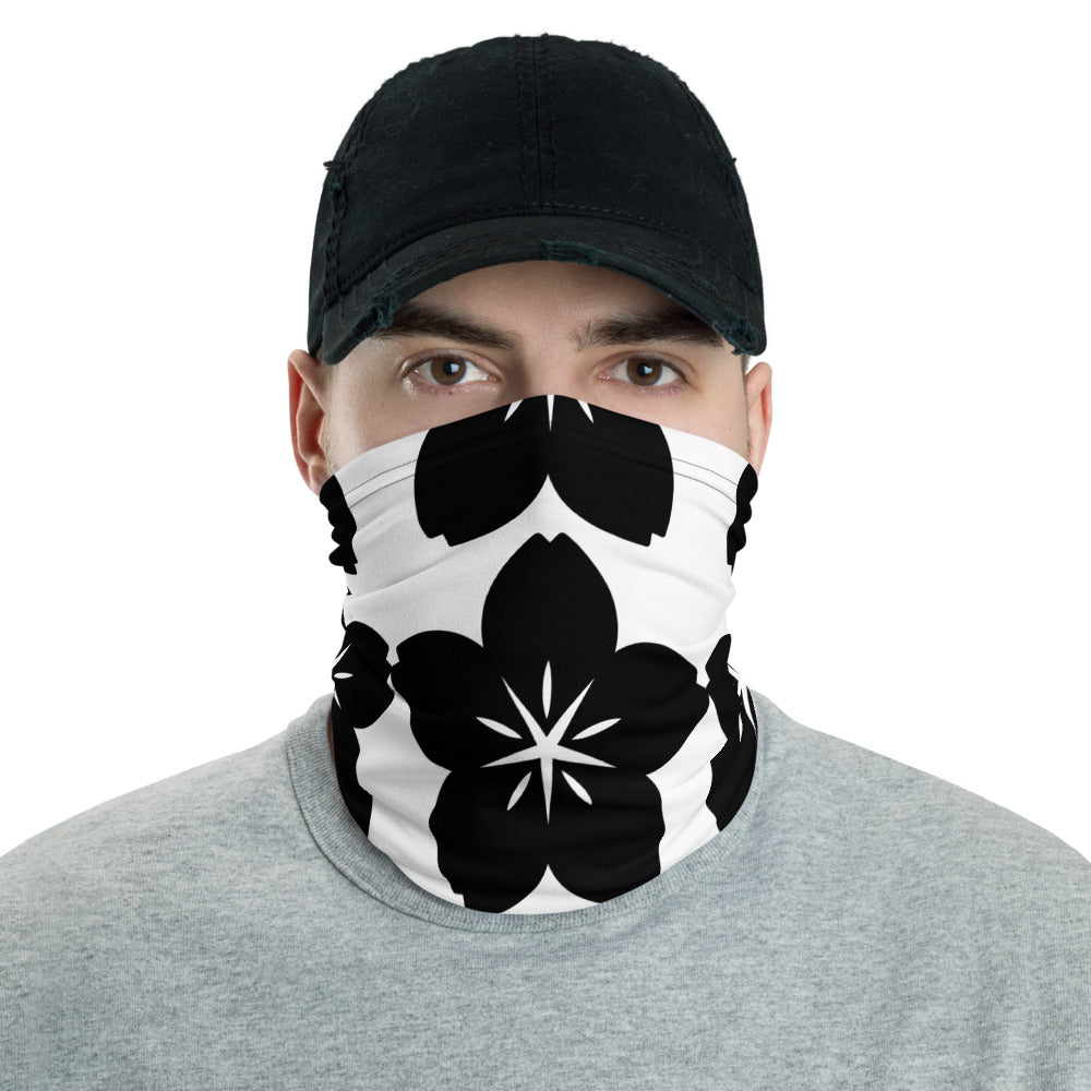 Black Flower Neck Gaiter