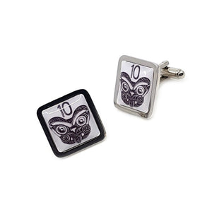10 Cent New Zealand square cufflinks