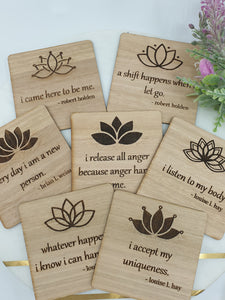 Weekly affirmation cards