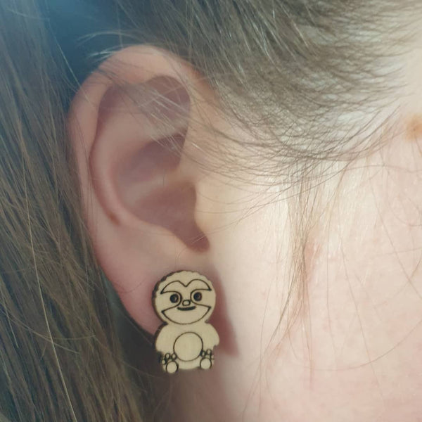 Wooden sloth studs