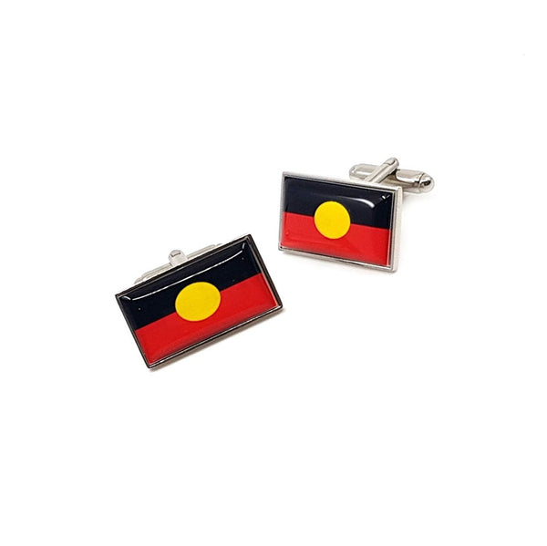 Aboriginal Flag cufflinks by Three Zs Gallery
