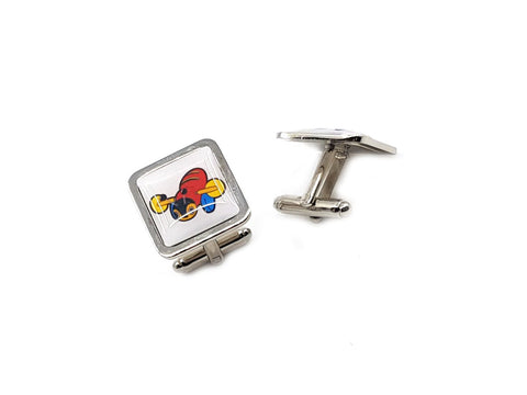 Buzzy Bee square cufflinks