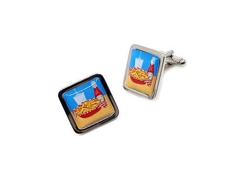 Hot chip cufflinks by three zs gallery