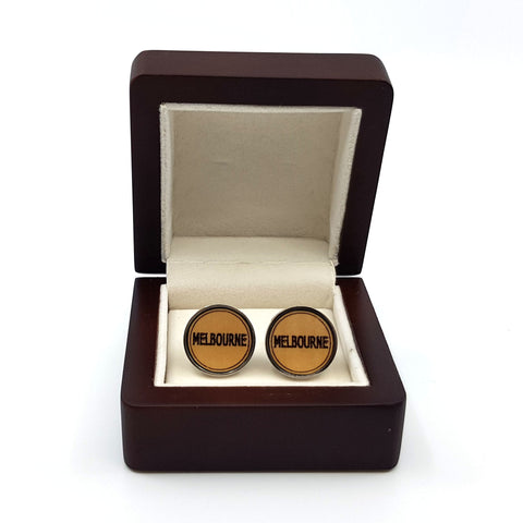 Wooden cufflinks Melbourne