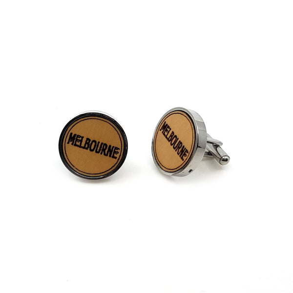 Melbourne Wooden cufflinks