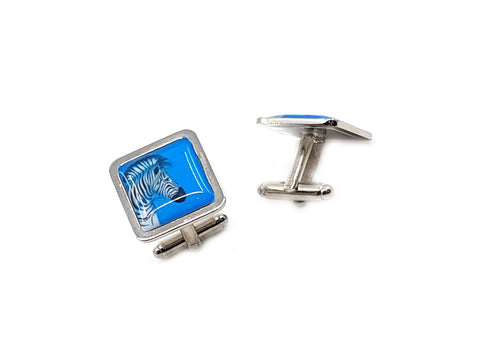 Zebra cufflinks by three zs gallery