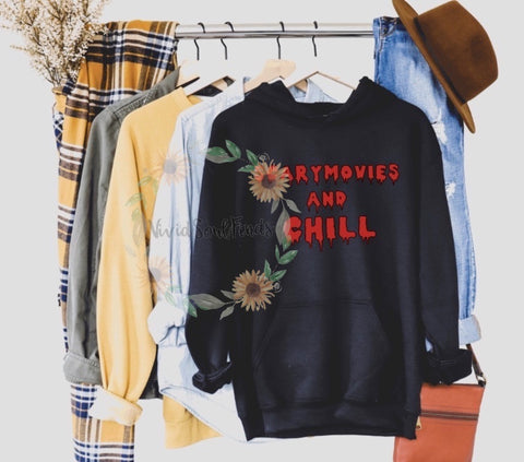 Scary movies and chill hoodie