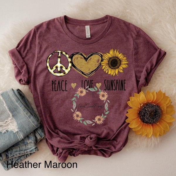 Peace Love Sunshine T-shirt