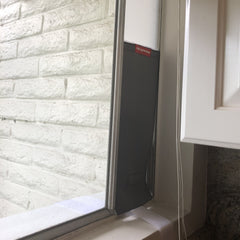 This customer used it in her kitchen window to give her kitty access in and out of her house.