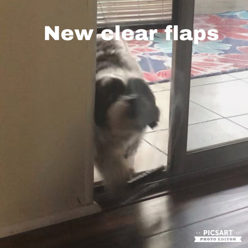 "Upgrade to a NEW Clear weighted flap for the small 6"" and medium 8"" Pop Up Pet Door"