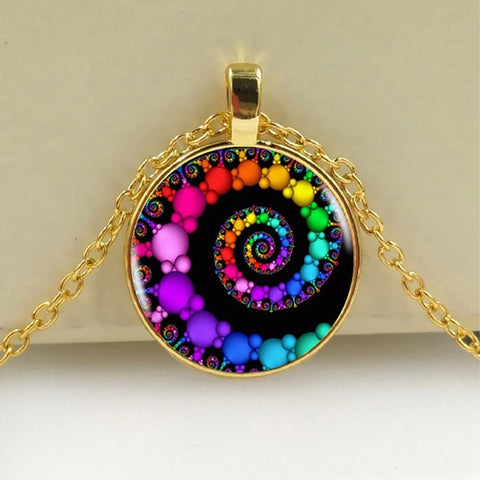 Spiral Rainbow Necklace