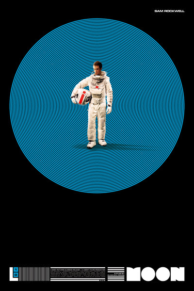 Moon - 10 year Anniversary Poster MOON BLUE