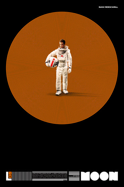 Moon - 10 year Anniversary Poster LUNAR INDUSTRIES ORANGE