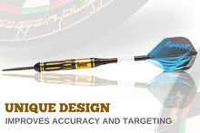 Load image into Gallery viewer, Professional Darts Set with Aluminum Shafts and Flights + Dart Sharpener + Innovative Case (22g Cursed Treasure)