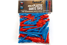 Load image into Gallery viewer, Soft Dart Tips Set - 100 Pack Plastic Darts Tips (50 Blue Dart Points & 50 Red Darts Points), 2BA Thread