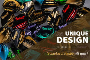 10 Sets of Different Standard Shape Darts Flights and 6 Flights Protectors, Darts Accessories Kit