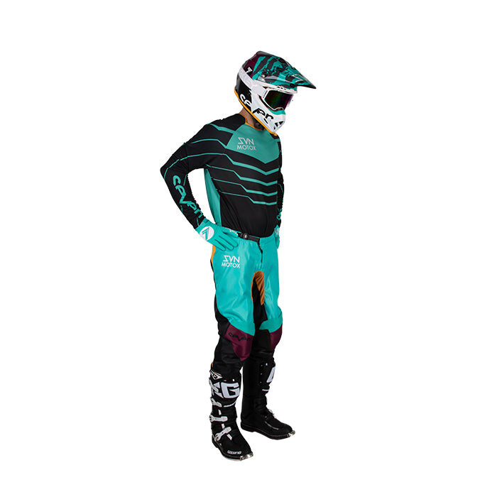 Youth Annex Exo Jersey - Black/Aqua
