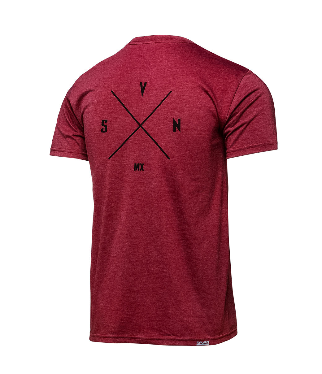 Benchmark Tee - Burgundy Heather